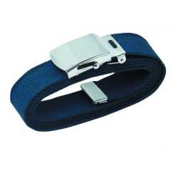 Ceinture Toile Bleu Marine 25 mm Réglable