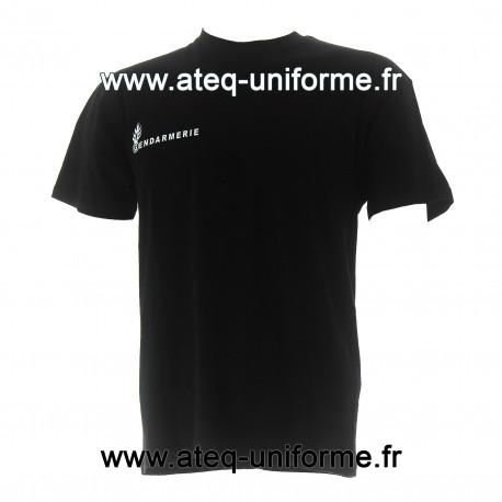 Tee shirt GENDARMERIE coton noir