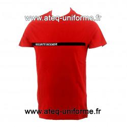 T Shirt sécurité incendie rouge pro