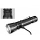 LAMPE TACTIQUE RECHARGEABLE 360X3-3200 LUMENS