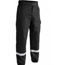Pantalon F2 Bandes rétro-réfléchissantes noir-TOE