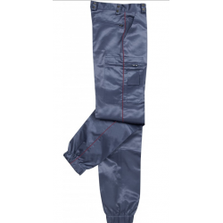 PANTALON INTERVENTION SATINÉ ASVP LISERE BORDEAUX
