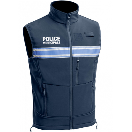 Gilet Softshell sans manches Police Municipale ONE