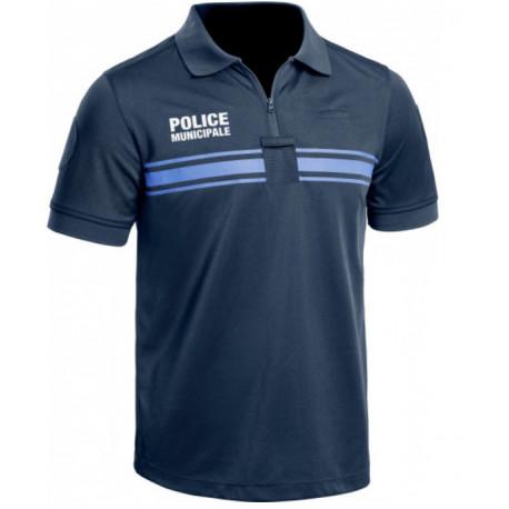 Polo Bleu Police Municipale M. Courtes