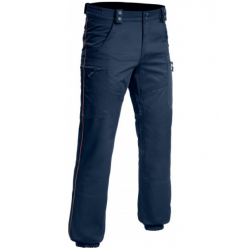 PANTALON INTERVENTION MAT LISERÉ BORDEAUX