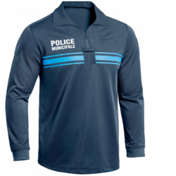 Polo Bleu Police Municipale M. Longues ONE - TOE