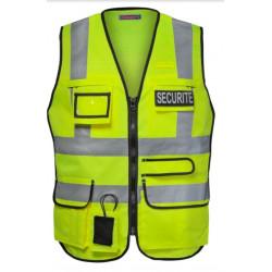 Gilet Sécurité haute visibilité multipoches
