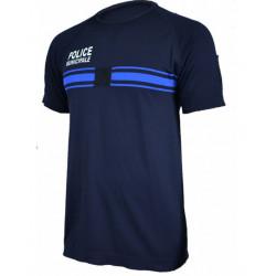 T-shirt Police Municipale en technical line