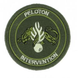 Ecusson peloton d'intervention basse visibilité vert armée