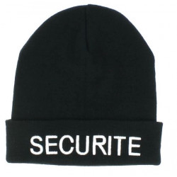 BONNET SECURITE NOIR BRODE