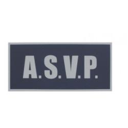 Bandeau sur velcro ASVP rétroréfléchissant 28 X 13 cm DOS