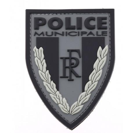 Ecusson de bras PVC POLICE MUNICIPALE basse visibilté sur velcro