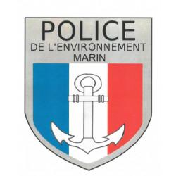 Ecusson brodé POLICE DE L'ENVIRONNEMENT MARIN