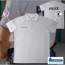 Polo POLICE cooldry anti humidité maille piquée