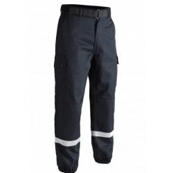 Pantalon sécurité incendie F2 bandes rétro-réfléchissantes beu marine TOE