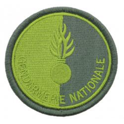 Ecusson Gendarmerie Nationale basse visibilité vert