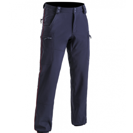 Pantalon déperlant doublé softshell ASVP liseré bordeaux -TOE