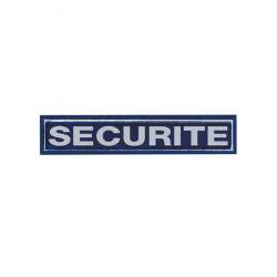 "BARETTE RETRO REFLECHISSANTE ""SECURITE"""