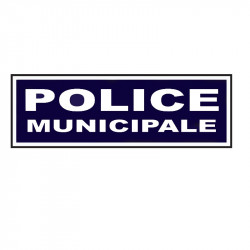 BANDEAU SUR VELCRO POLICE MUNICIPALE INVERSER
