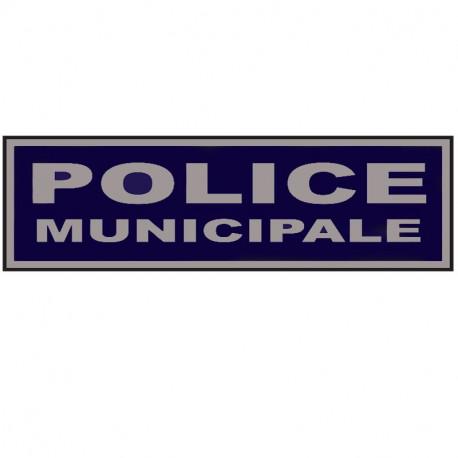 """Bandeau sur velcro 13 x 6 cm basse visibilité """"POLICE MUNICIPALE"""""""
