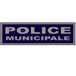 """Bandeau sur velcro 28 x 13 cm basse visibilité """"POLICE MUNICIPALE"""""""