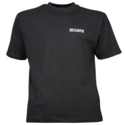 TEE SHIRT NOIR SECURITE OPTIMAL