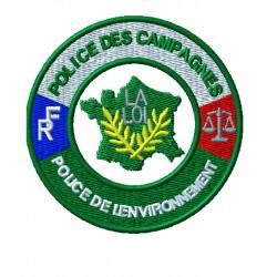 ÉCUSSON BRODÉ POLICE DES CAMPAGNES ET DE L'ENVIRONNEMENT
